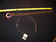 """2 Avon Vintage Pendant Necklaces from the1970's - choker &  26"""" long chain"""