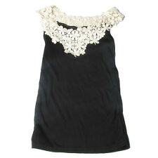 Ladies Pullover Lace Scoop Neck Sleeveless Tank Top
