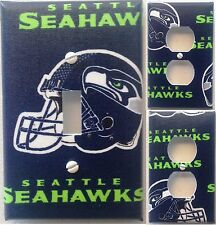 Seattle Seahawks custom Light Switch wall plate covers man cave room decor