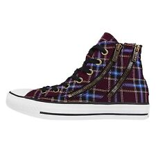 Converse Chuck Taylor All Star Dual Zip Plaid Red Womens Casual Shoes 549574C