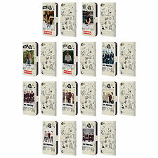 OFFICIAL ONE DIRECTION 1D TAPE SNAPSHOTS LEATHER BOOK CASE FOR APPLE iPOD TOUCH