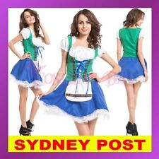 Ladies Mens Beer Maid Costume Wench German Heidi Oktoberfest Gretchen FancyDress