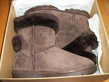 NEW IN BOX SIZE 7 LAMO QUEUE WRAP WOMEN'S SUEDE LEATHER CASUAL BOOTS DARK BROWN