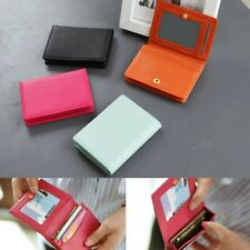 Soft Leather Business Card Holder Case Credit ID Name Wallet Purse Women Girl