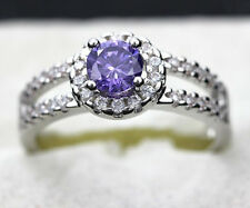 1ct Simulated Diamond Solid 925 Sterling Silver Wonderful Engagement Ring