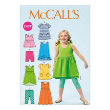 McCalls Easy Childrens/Girls Sewing Pattern 6947 Top Dresses Shorts Leggings