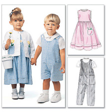McCalls Easy Toddler Sewing Pattern 6304 Rompers 2 Length Dress Jacket Shirt