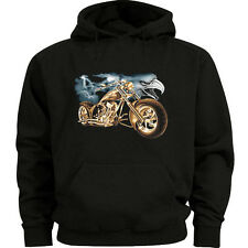 Biker sweatshirt hoodie Men's size sweat shirt biker eagle design choppers