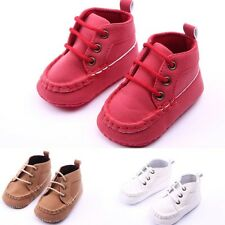 3 Colors Soft Matte Leather Baby Girl Boy Soft Sole Sneaker Crib Shoes 0-18M