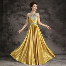 Sexy Long Chiffon Lace Evening Formal Party Cocktail Prom Gown Bridesmaid Dress