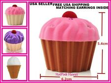 FREE EARRING Gift Set Cupcake Shaped Ice cream Sweet Jewelry Box Ring +SHIPPING