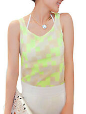 Fashionable Ladies Round Neck Pullover Summer Tank Top