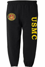 USMC sweatpants Men's size us marines sweats marine corps sweat pants black