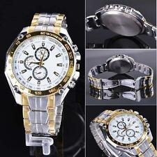 Mens Round Face Stainless Steel Watches Quartz Wrist Watch Army Watches B60