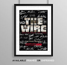 THE WIRE CAST SIGNED AUTOGRAPH PRINT POSTER PHOTO TV SHOW DVD SERIES SEASON