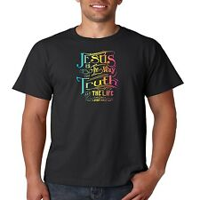 Religious T Shirt Jesus Is The Way The Truth And The Life Christian Bible Cross