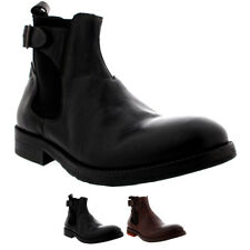 Mens H By Hudson Parson Work Leather Office Smart Shoes Chelsea Boots US 7-13