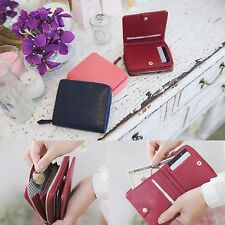 Genuine Leather Small Bifold Wallet Purse Clutch Coin Card Holder Organizer Case