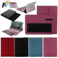 For 9.7 10.0 10.1 universal tablet case flip folios stand+Bluetooth Keyboard