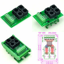 RJ11/RJ12 6P6C 4-Way Buss Breakout Board Interface Module, Terminal Block.