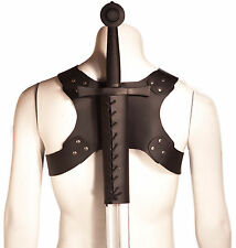 back leather scabbard for larp sword,  Viking SCA renaissance