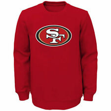 San Francisco 49ers Youth Scarlet Prime Fleece Crew Pullover Sweatshirt