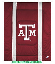TEXAS A&M AGGIES SIDELINES COMFORTER &  PILLOW CASE SET