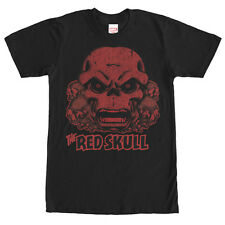 Marvel Red Skull Collage Mens Graphic T Shirt