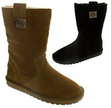 Ladies KEDDO Faux Suede Faux Fur Lining Warm Winter Boots Sz Size 3 4 5 6