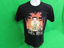 "Betty Boop ""Hula boop"" adult T-shirt Black Size Small & Large"