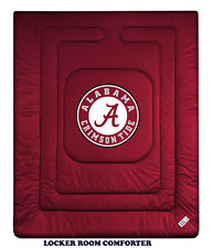 ALABAMA CRIMSON TIDE LOCKER ROOM COMFORTER, SHEET SET, TOSS PILLOW