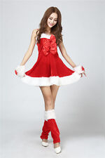 New Bar Christmas Party Cute Sexy Women's Cosplay Halloween Costume Red Dress