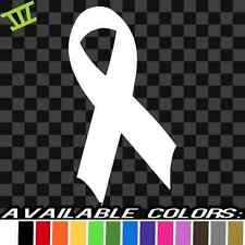 Cancer Ribbon Sticker Vinyl Decal car truck window breast awareness survivor