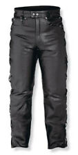 Mens Motorcycle Biker Biker Leather Trousers Jeans Laces Cruiser Sonicmoto A-Pro