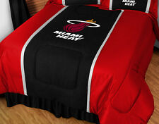 MIAMI HEAT SIDELINES COMFORTER &  PILLOW CASE SET