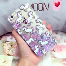 Cartoon Unicorn Liquid Glitter Case Cover for iPhone6S 7 8Plus S6 S7Edge Note4 5