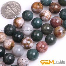 "Natural Ocean Jasper Gemstone Round Beads For Jewelry Making 15"" 6mm 8mm 10mm"