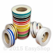 6mm Space 3mm X 10m Double Line Self Adhesive Vinyl Pin Stripe Roll, Car Styling