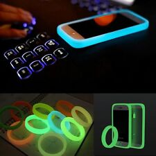 Universal Soft Silicone Luminous Protective Phone Bumper Frame Case Cover Ring