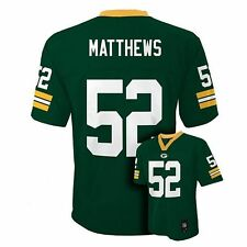 NWT NFL Green Bay Packers Clay Matthews Youth Green Jersey - Sizes S(8) - XL(20)