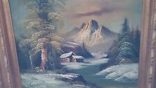 Original C. Hall oil painting beautiful landscape