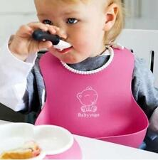 Clever Baby Infants Kids Cute Silicone Bibs Baby Lunch Bibs Cute Waterproof