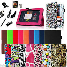 "8IN1 Amazon Kindle Fire HD 8.9"" Leather Case Cover +Auto Wake/Sleep Stand Stylus"