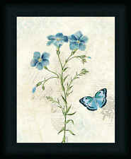 Booked Blue III Crop Katie Pertiet 14x11 Botanical Daffodils Framed Art Picture