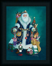 Christmas Past Morgan D 16x12 Santa Claus Presents Wall Art Print Framed Picture