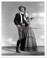 Actress Maureen O'Hara With John Wayne Rio Grande US Cavalry Silver Halide Photo