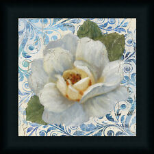 Cottage Garden II Nan12x12 White Magnolia Vintage Style Art Print Framed Picture