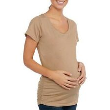 oh! Mamma Womens Maternity T-Shirt Ruched Side Sizes -M , L , or XL  NWT