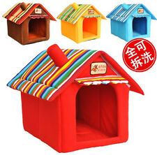 NEW Soft Cozy Luxury Tent Dog Cat House Pet Bed For Small-Medium Pets C1042-1045