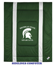 MICHIGAN STATE SPARTANS SIDELINES COMFORTER, SHEET SET, PILLOW SHAM